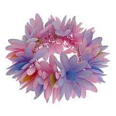 (1 kpl) 5cm Lasten monivärinen Flower Kangas Strand rannerengas / hiukset tie