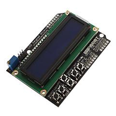 abordables Placas Base-LCD1602-7 monitor 5V Display LCD Pantalla Azul de Cristal Líquido con luz de fondo ECT