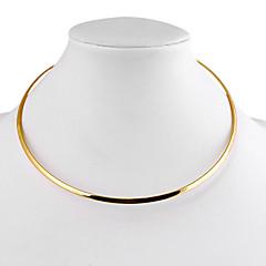 여성용 초커 목걸이 Circle Shape Geometric Shape 합금 미니멀 스타일 의상 보석 보석류 제품 일상 캐쥬얼