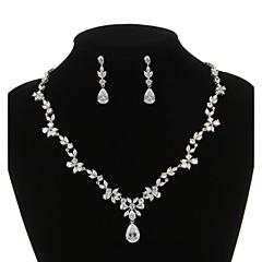 Conjunto de joyas De mujeres Aniversario / Boda / Pedida / Cumpleaños / Regalo / Fiesta / Ocasión especial Sets de Joya Zirconia Cúbica