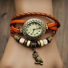 preiswerte Damenuhren-Damen Quartz Armband-Uhr Armbanduhren für den Alltag PU Band Böhmische / Modisch Schwarz / Blau / Rot / Orange / Braun / Grün