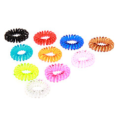 (10st) Fashion Multicolor Plastic Hair Ties For Kids (oranje, groen en meer)