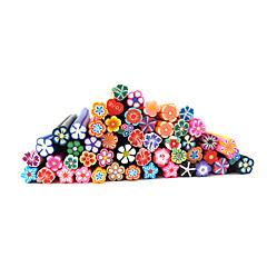 abordables Arte de Uñas Frutal-20pcs del clavo lindo Flores 3D Arte FIMO Cañas Cañas Decoración