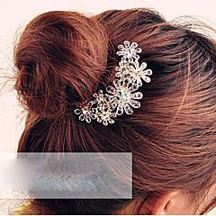abordables Joyería para el Cabello-Mujer Flor, Cristal / Legierung Peine - Elegante / Peinetas / Peinetas