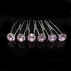 Χαμηλού Κόστους Κοσμήματα Μαλλιών-Στρας Κράμα Καλύμματα Κεφαλής Τσιμπιδάκι with Φλοράλ 1pc Γάμου Ειδική Περίσταση Headpiece