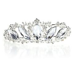 여성 라인석 합금 투구-웨딩 특별한날 왕관