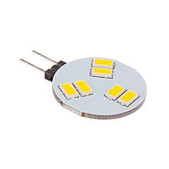G4 Faretti LED 6 leds SMD 5630 Bianco caldo 260lm 2500-3500K DC 12V