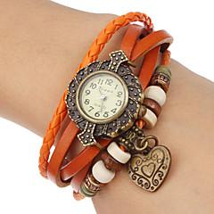Dames Armbandhorloge Kwarts Band Bohémien Zwart Blauw Rood Orange Bruin Groen Oranje Bruin Rood Groen Blauw