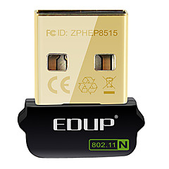 abordables Cables y Adaptadores-EDUP EP-N8508GS IEEE802.11b/g/n 150Mbps Wireless USB Dongle adaptador de red
