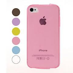 твердый цвет гладкой поверхности мягкий чехол для iphone 4 / 4s iphone