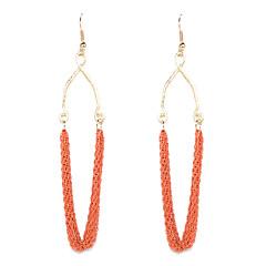 preiswerte Ohrringe-Damen Tropfen-Ohrringe - Schwarz / Orange Für Hochzeit / Party / Alltag