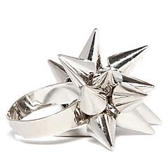 preiswerte Ringe-Damen Bandring - Aleación Verstellbar Weiß / Schwarz / Golden Für Alltag