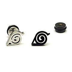 cheap Earrings-Men's Stud Earrings - Stainless Steel Black / Silver For Party / Daily