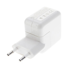 Tipo UE adaptador de corrente USB para iPad / iPhone (Branco)