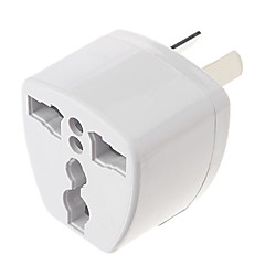 Universal AU Port Travel Power Adapter Plug (250V, valkoinen)