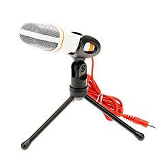 voordelige -666 3.5mm stereo plug bracket hoge kwaliteit ktv microfoon (wit) wired karaoke microphone