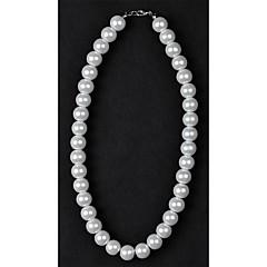 abordables Collares de perlas-Mujer Perla Collar de hebras / Collar con perlas - Perla, Perla Artificial Plata / Negro, Marfil Gargantillas Joyas Para Boda, Diario, Casual