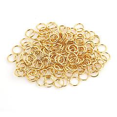 cheap -Durable Round Gold Alloy Clasps 100 Pcs/Bag