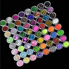 72-Color Glitter Powder Decoración de uñas de arte