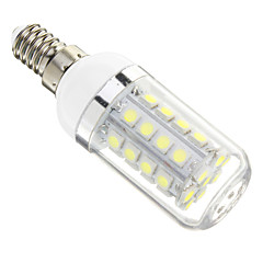 E14 LED Corn Lights 36 leds SMD 5050 Cold White 480lm 6000-6500K AC 220-240V