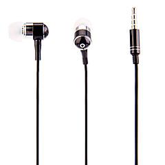 J903 3.5mm Tyylikäs Zipper In-Ear kuulokkeet ja mikrofoni (musta)