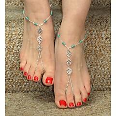 Kadın's Ayak bileziği/Bilezikler alaşım Eşsiz Tasarım Avrupa Bikini kostüm takısı Kişiselleştirilmiş Flower Shape Mücevher Mücevher