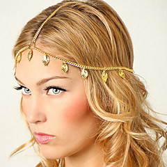 shixin® europese blad kwastjes gouden legering hoofdbanden voor vrouwen (1 st)