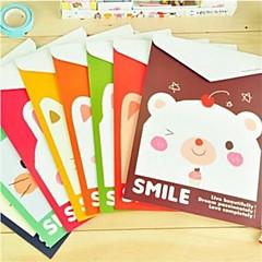Animal Family Pattern Paper File verticale versie (willekeurige kleur)