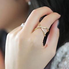 preiswerte Ringe-Damen Bandring - Aleación Modisch 6 Gold / Silber Für Party / Alltag / Normal