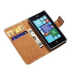 Funda cartera de cuero original para Nokia Lumia 520 soporte con el sostenedor de la tarjeta de crédito de la nueva llegada