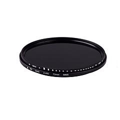 ! 72mm delgada atenuador variable de filtro ND nd2 ajustable de densidad neutra para el envío libre 014104 ND400