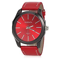 Dames Modieus horloge Polshorloge Kwarts Band Zwart Wit Rood Bruin