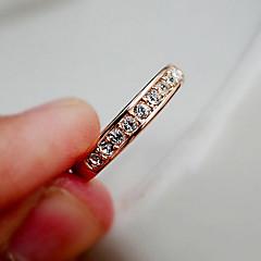 お買い得  指輪-女性用 バンドリング  -  ステンレス鋼, ラインストーン ぜいたく, ファッション 調整可 シルバー / ゴールデン 用途 パーティー 日常 カジュアル
