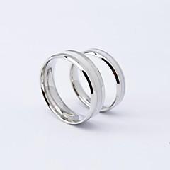 preiswerte Ringe-Paar Eheringe - Titanstahl Modisch 5 / 6 / 7 Weiß Für Alltag / Normal