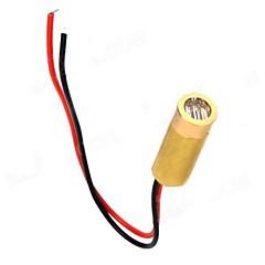 abordables Diodos-3 ~ 5mW 650nm Cobre Semiconductor Laser Dot Diodo Head Set - Golden + Rojo + Negro