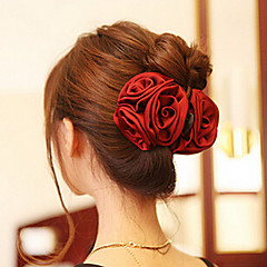 cheap Hair Jewelry-Women's Elegant Acrylic / Fabric Hair Claw Flower / Hair Claws / Hair Claws