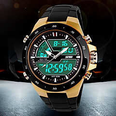 cheap -SKMEI® Men's Watch Sports Analog-Digital LCD Watch Water Resistant/Water Proof Calendar Multi-Functional Dual Time Zones Cool Watch Unique Watch