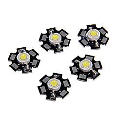 ZDM ™ 1W High Power fajny kolor biały Moduł LED z aluminium pcb (3.0-3.4v, 5pcs)