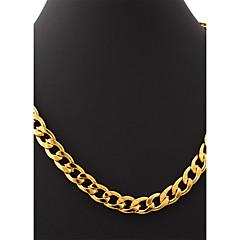preiswerte Halsketten-u7® Herren 18k Gold gefüllt klobigen hiphop große Halskette vergoldet figaro Ketten für Männer 11mm 55cm