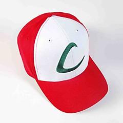 Sombrero/Gorra Inspirado por Pocket Little Monster Ash Ketchum Animé Accesorios de Cosplay Casquillo Sombrero Rojo Hombre Mujer
