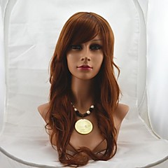 お買い得  人工毛ウィッグ-人工毛ウィッグ ウェーブ 女性用 ブラウン