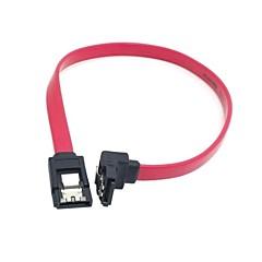 preiswerte Kabel & Adapter-sata 7pin Verlängerungskabel mit Verriegelungslasche und 90-Grad-Winkelstecker für Festplatte 0,3 1ft