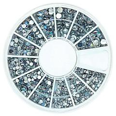 120pcs mix 4 boyutu bling kristal ab akrilik taslar teker tırnak sanat dekorasyon