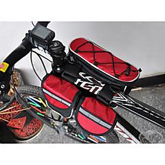 abordables ACACIA-Acacia Bolsa para Cuadro de Bici Impermeable, Resistente a la lluvia, Bandas Reflectantes Bolsa para Bicicleta 600D Ripstop / Material impermeable Bolsa para Bicicleta Bolsa de Ciclismo Ciclismo