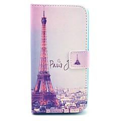Voor LG hoesje Kaarthouder / Portemonnee / met standaard / Flip hoesje Volledige behuizing hoesje Eiffeltoren Hard PU-leer LG LG G10
