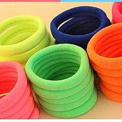 (3PC 랜덤) 매우 간단하고 실용적인 퍼지 여러 가지 빛깔의 강한 탄성 헤어 밴드