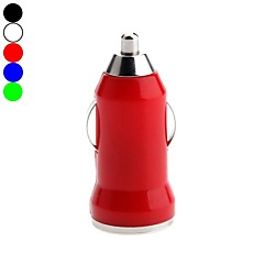 Kinston Bullet Styles USB Car Charger  for Apple/Samsung/Nokia/HTC/Sony/ lLG Mobile (5V 1A, Assorted Colors)