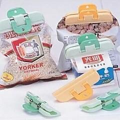 お買い得  キッチン収納-2本のプラスチック製の強力な食品袋クリップ新鮮なスナック食品の貯蔵袋のシーラー