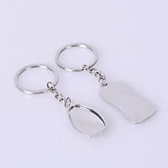 abordables Llaveros-las parejas de juguetes llavero de plata del metal
