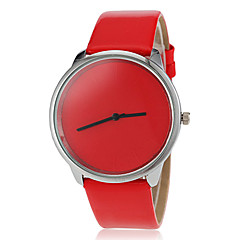 Mulheres Relógio Esportivo Relógio de Moda Quartzo PU Banda Doce Preta Branco Vermelho Marrom Rosa Roxa Amarelo